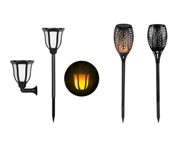 Hitechled solar tiki torch light